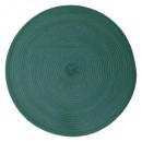 Conjunto trenzado redondo esmeralda, verde oscuro