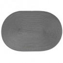 set table tresse ovale gris, gris