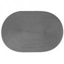 juego de mesa trenza ovalada gris, gris
