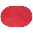 conjunto de trenza ovalada roja, rojo