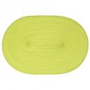 set table tresse ovale vert, vert