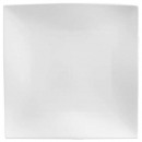 plate plate square wave 26cm, white