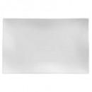 flat plato rectangle wave 33x21cm, blanco