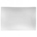 plato postre rectángulo onda 23x15cm, blanco