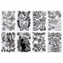 wholesale Wall Tattoos: decal sticker 30x40 deco b & w, 6- times assor