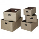 x5 paper basket + taupe handle, taupe