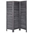Schermo in legno grigio 170x40, grigio