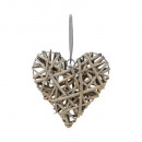 deco heart wicker d20, 2- times assorted , multico