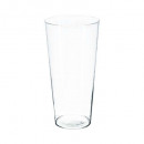 vase conique transparent h30, transparent