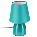 turquoise bedside lamp h19.5, blue