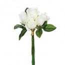 boeket 7 witte roos h30, wit