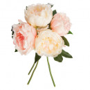 bouquet 4 pink peony h30, pink