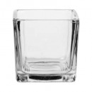 wholesale Pictures & Frames: Transparent square tealight h5.3, transparent