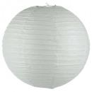 lanterne boule blanc d45, blanc