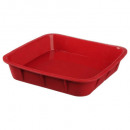 wholesale Casserole Dishes and Baking Molds: Pro square silicone mold 24cm, red