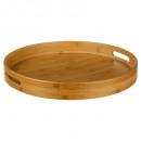 round bamboo tray 40cm, beige