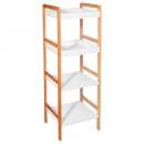 estante para baño 4 nivelesbamboo / mdf