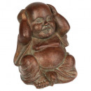resin buddha pm 11x9.5x12, 3- times assorted , mar