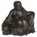 Gran Buda riendo mm, negro