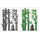 embossed sticker 38x50 bamboo, 2- times assorted ,