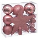 Weihnachtsball-Kit 18 Stück rosa n