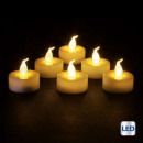candela led bianco piatto caldo x6