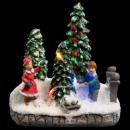 Weihnachtsdorf Szene 2 Perso + Weihnachtskugel 3lm