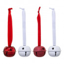 mayorista Mobiliario y accesorios oficina y comercio: Decoración navideña metal 4 campanas gm + cinta.