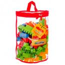 nagyker Játékok: Félhold táska 150 tégla blokk, többszínű