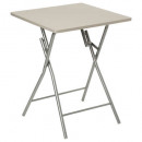 table pliante basic taupe, beige