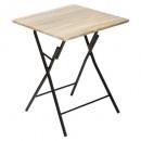 folding table 60x60cm wood, beige