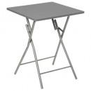 mayorista Ocio y Camping: mesa plegable de moda gris, gris medio