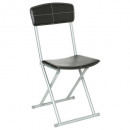 folding chair pvc black, black
