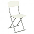 folding chair pvc cream, white