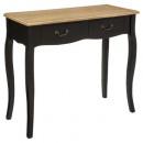 console 2 drawers nr chrysa, black