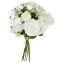 bouquet 18 flowers white gm h50, white