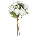 bouquet 14 rose blanc h40, blanc