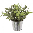 artificial plant pot zinc d8xh17, 3- times assorte