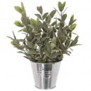 plant artif pot zinc d10xh25, 4- times assorted ,