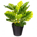 artificial plant in pot h30, 3- times assorted , b
