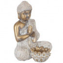 photophore bouddha dore, 2-fois assorti, or