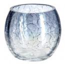 glazen theelicht craq ronde kroonluchter h7, 3-vou