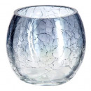 glass tealight craq round chandelier h7, 3-fold as