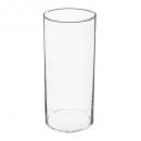 jarrón de cilindro transparente d13x30, transparen