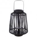 lantern rattan black d25xh35, black
