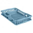 plastic afdruiprek + schotel blauw, blauw