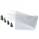 disposable sleeve pocket x20, colorless