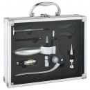 briefcase sommelier 6pcs aluminum, without color