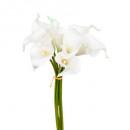 bouquet 8 arum blanco h36, blanco