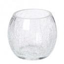 glas theelichtje craq rd h7, transparant